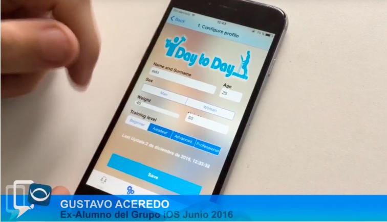 caso de éxito Gustavo Presenta su App iPhone en Academia moviles