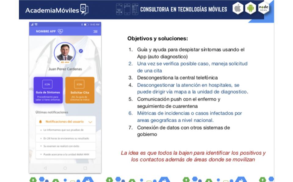 Proyecto en relaci�n a gestionar datos frente a la pandemia Covid-19. usando tecnolog�a moviles
