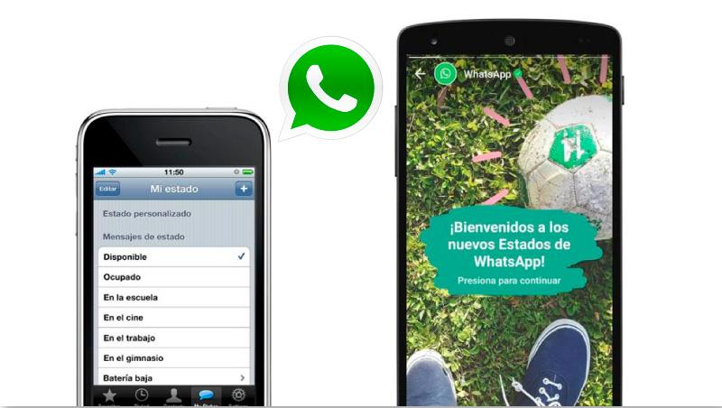 caso de éxito WhatsApp lanza sus nuevos estados para parecer a Instagram Stories